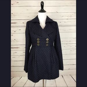 Navy with Red Polka Dot Pea Coat 💙❤️